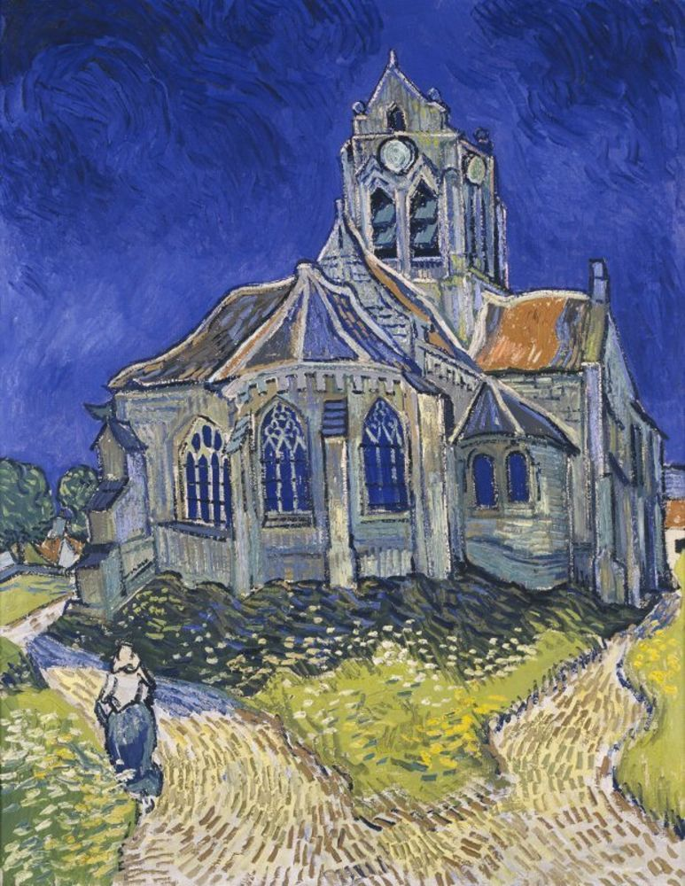 Vincent van Gogh - The Church in Auvers-sur-Oise, View from the Chevet.jpg
